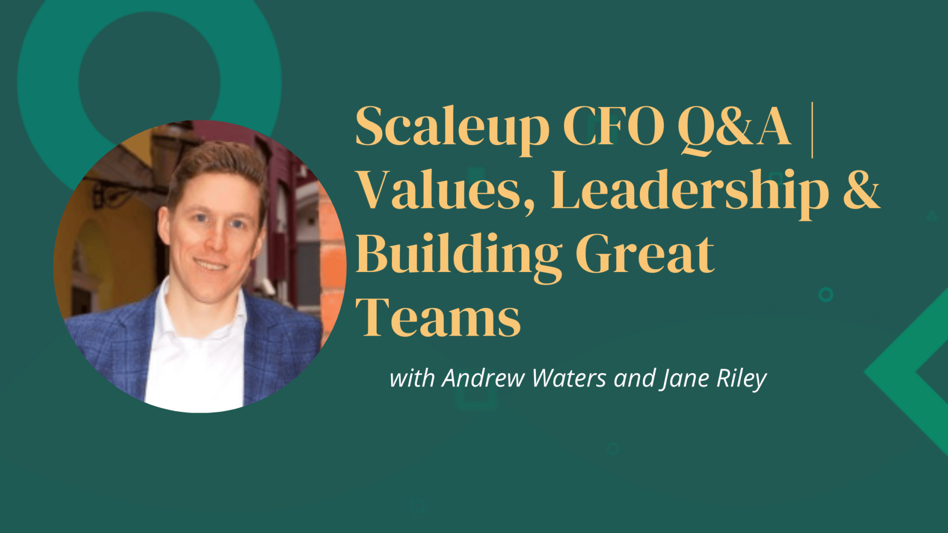 During this session Andrew will speak with Sabrina Castiglione, the CFO of the multi award winning cybersecurity business Tessian. Since joining Tessian in 2016 as their 7th team member, Sabrina has led on the Seed, Series A, B & C funding rounds with top investors such as Accel, Balderton, Sequoia & March Capital. She has also played a key role in establishing functions across Talent, People, Finance, Legal, Compliance, IT, Tech as the business scaled to 200+ employees. With a key responsibility for the People & Talent function during her time at Tessian we will discuss some of the key lessons learnt when it comes to core values, leadership and building great teams.